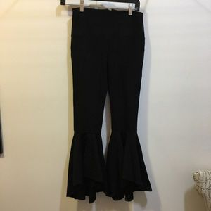 Pants - Unbranded wide flare skinny black go go pants